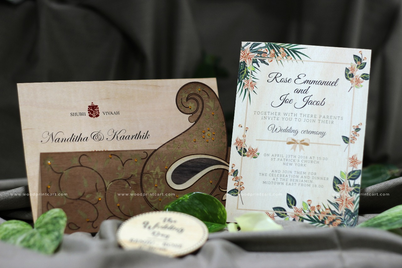 Wood invitation cards Dubai UAE
