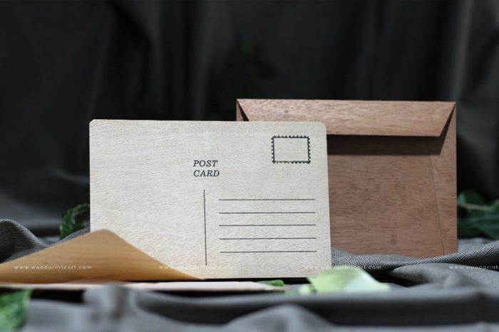 Wooden Printed Post cards Wood print cart dubai